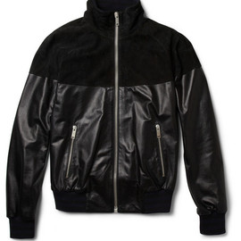 Alexander McQueen - Alexander McQueen Leather and Suede Bomber Jacket