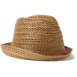 Gucci - Woven-Straw Trilby Hat