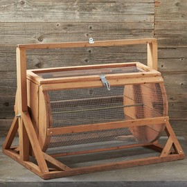 Williams Sonoma - Reclaimed Redwood Cylindrical Composter