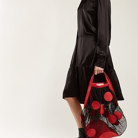 MAISON MARGIELA - Polka-dot fishnet shoulder bag