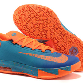 KD VI 6 Mens Size Nike Shoes In Clean Blue Orange Colorways
