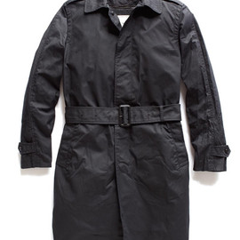 TODD SNYDER - Black Wool Lined Trench Coat by Todd Snyder