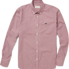 MAISON KITSUNÉ - Slim Fit Gingham Cotton Shirt