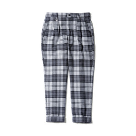 uniform experiment - WOOL FLANNEL 4 TUCK ANKLE CUT PANT