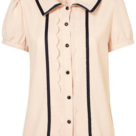TOPSHOP - Double Trim Blouse by Yuki**