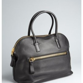 TOM FORD - Black Leather Zip Pocket Tote