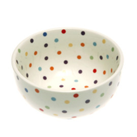FISHS EDDY - Polka Dot Cereal Bowl 22oz