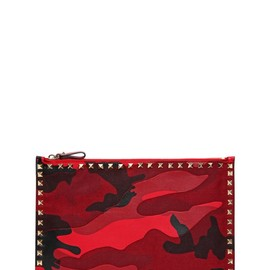 VALENTINO - CAMOUFLAGE PATCHWORK POUCH
