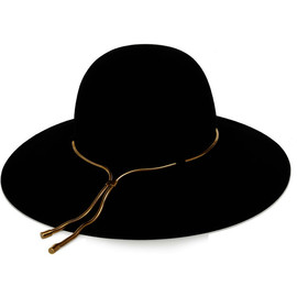 LANVIN - Chain-embellished rabbit and hare-felt hat