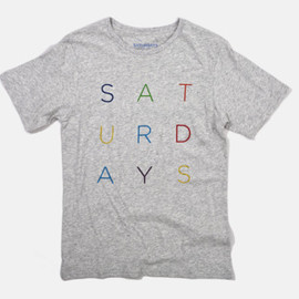 Saturdays Surf NYC - Color Letters T-Shirt