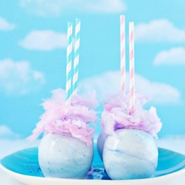 Sweetapolita - Whimsical Pastel Swirl Cotton Candy Apples