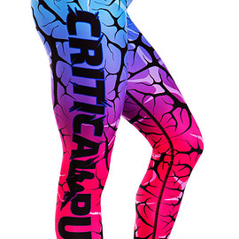 critical pump - Cracked Dusk Leggings