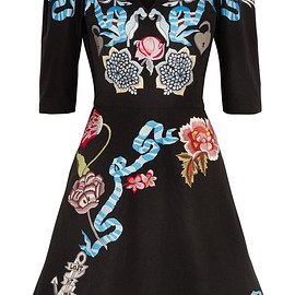 Temperley London - Sailor embroidered cotton and silk-blend faille mini dress