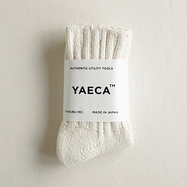 YAECA|UNISEX - Cotton Silk Socks #natural/mix