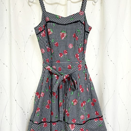 MILK - MILK Dresses Check strawberry Cherry