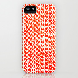 Society6 - Stockinette Orange iPhone Case by Elisa Sandoval