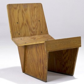 Frank Lloyd Wright - Tidewater Cypress Plywood Chair for the Charles and Dorothy Manson Residence, 1938.