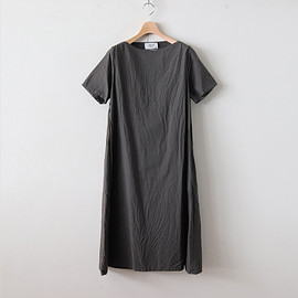 YAECA|WOMEN - WRAP DRESS S/S #BLACK [98706]