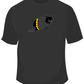 American Apparel - Batcat Shirt - The Oatmeal