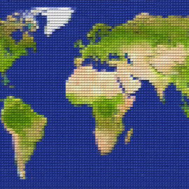LEGO - World map
