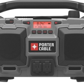 PORTER-CABLE - PC18JR 18-Volt Cordless / 120-Volt Corded Jobsite Radio