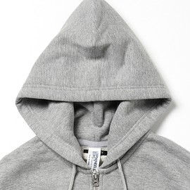 BEAMS+ - loop wheeler zip up hoodie