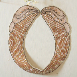 Vintage - 1920s great gatsby pearl necklace collar