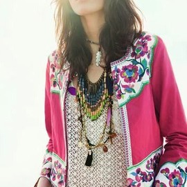 street - Pattern mix. Color. Boho chic.
