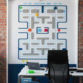New Media Labs - Pacman wall art