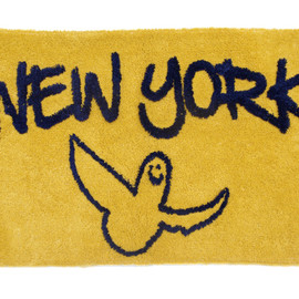 SECOND LAB., Mark Gonzales - GONZ NY RUG - by Mark Gonzales(YELLOW×NAVY)