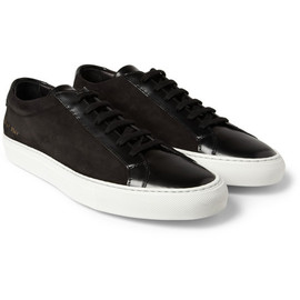 Common Projects - Common Projects Achilles Leather and Suede Low Top Sneakers