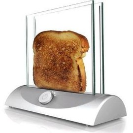 Clear toaster allows you to see when it is toasted perfectly.. by lea