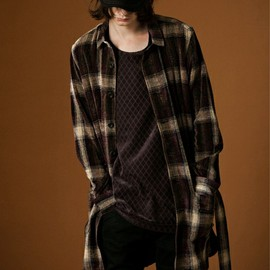 SHAREEF - MOLE CHECK SHIRTS COAT SHAREEF ×ZOZOVIANT