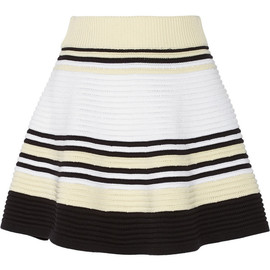 OPENING CEREMONY - Striped ribbed cotton mini skirt