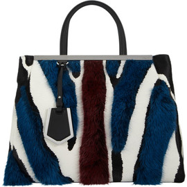 FENDI - 2Jours Zebra-Print Medium Tote