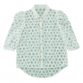 Honey mi Honey - Organdy flower blouse