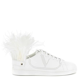 VALENTINO - Net leather sneakers