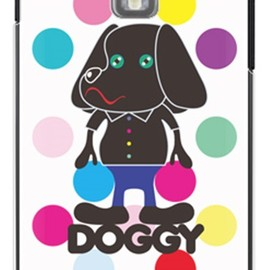 SECOND SKIN - Doggyマルチカラードット (クリア) design by Moisture / for GALAXY S II LTE SC-03D/docomo
