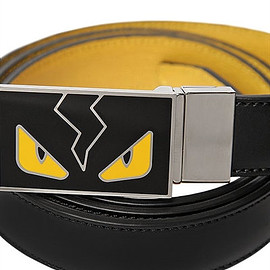 FENDI - MONSTER REVERSIBLE LEATHER BELT