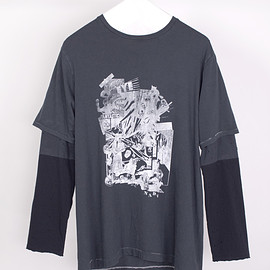 NADA. - Layer iong tee / Charcoal