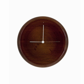 GLOCAL STANDARD PRODUCTS - WALL CLOCK ( 拭き漆 茶 )