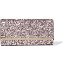 Jimmy Choo - Milla glittered leather clutch