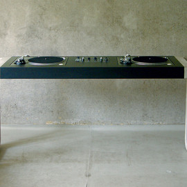 Black DJ Desk, 2004 (Corian)