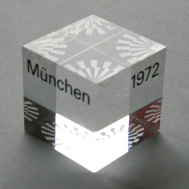 paperweight for the Olympic Games Munich 1972 - Perspex Paperweight, Otl Aicher