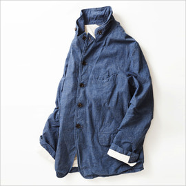 A VONTADE - Old Potter Jacket -Nepped Chambray-