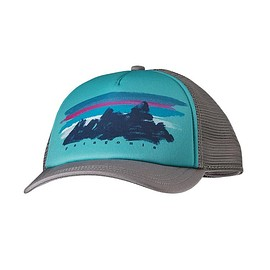 Patagonia - Women's Painted Fitz Roy Interstate Hat - Feather Grey