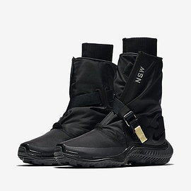 NIKE - Gaiter Boots - Black/Anthracite/Pale Citron/Black