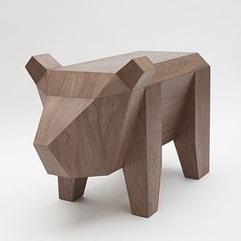 Facultative.Works - Wood Bear Table