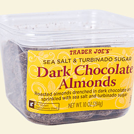 Trader Joe's - Sea Salt & Turbinado Sugar Dark Chocolate Almonds