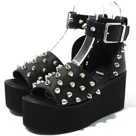 Candy stripper - SPIKY STUDS HIGH SOLE SANDAL